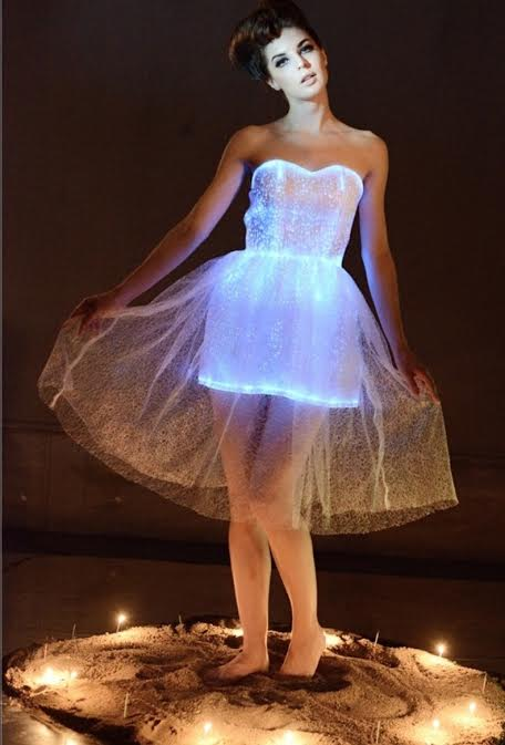 fiber optic dress maverick by design